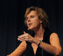 Connie Hedegaard, former president of the UN Climate Change Conference 2009 in Copenhagen (left chair to Danish Prime Minister Lars Løkke Rasmussen on 16 December)[1]