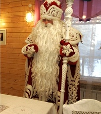 Ded Moroz (Russian Santa) at his residence in Veliky Ustyug.