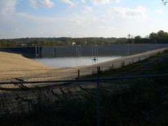Dillman Road Wastewater Treatment Plant, a major source of water for the lower course of Clear Creek