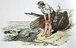 """The Fisherman and His Wife"" illustration by Alexander Zick"