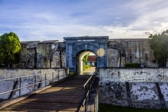 Historial Site of UNESCO, Fort Marlborough located in Bengkulu City.