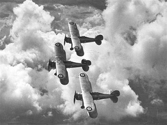 Three Gloster Gladiators