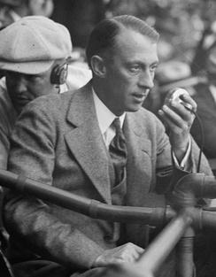 McNamee at the 1924 World Series