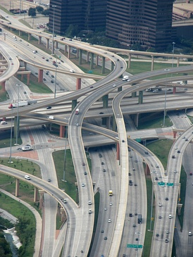 The High Five Interchange in Dallas is a five level interchange.