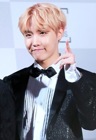 J-Hope at the 26th Seoul Music Awards in January 2017.