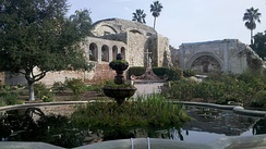 Mission San Juan Capistrano, founded in 1776.