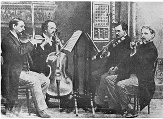 The Kneisel String Quartet, led by Franz Kneisel. This American ensemble debuted Dvořák's American Quartet, Op. 96.