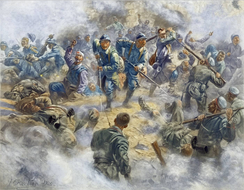 French infantry recapturing Douaumont