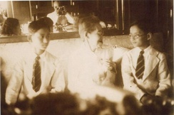 King Rama VIII (Ananda Mahidol) and Prince Bhumibol Adulyadej (later King Rama IX) with their grandmother, Queen Savang Vadhana, in 1938. Photo by Prince Rangsit Prayursakdi, the Prince of Jainad (Chainat).