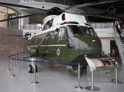 A former Marine One at the Ronald Reagan Presidential Library