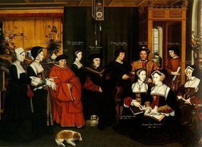 Rowland Lockey after Hans Holbein the Younger, The Family of Sir Thomas More, c. 1594