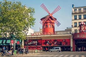 The Moulin Rouge at midday