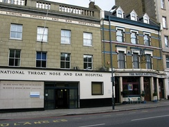 Royal National Throat, Nose and Ear Hospital founded in 1874, in London