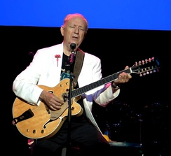Former Monkees guitarist Michael Nesmith plays his signature model Gretsch Model 6076