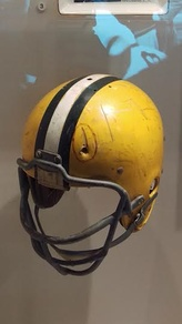 Nitschke's helmet from coaching tower incidentin September 1960