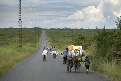 People fleeing their villages due to fighting between FARDC and rebels groups, North Kivu, 2012
