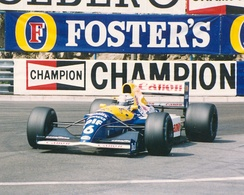 Patrese driving for Williams at the 1991 Monaco Grand Prix.