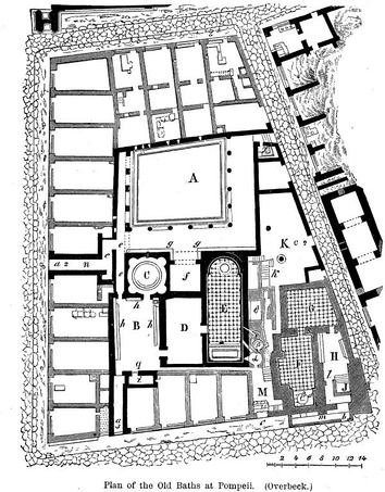 Plan of the Old Baths at Pompeii