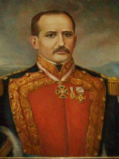 Painting of Prisciliano Sánchez, first governor of the state