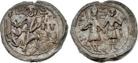 Rare seal of Alexios I with a depiction of the Resurrection