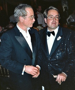Dreyfuss and producer Allan Carr at the Governor's Ball after 1989 Academy Awards