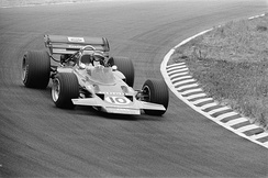 Jochen Rindt won the race in his new monocoque-chassis Lotus 72 which had only raced twice before but in a different spec