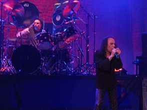 Vinny Appice (left) and Ronnie Dio performing in 2007