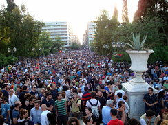 Protests in Athens on 25 May 2011