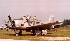 A West Virginia Air National Guard T-28A in 1957