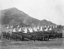 The Baloch Regiment in camp