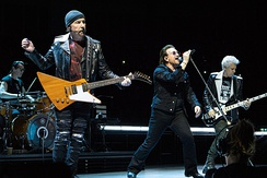 U2 performing on the Experience + Innocence Tour in London in October 2018