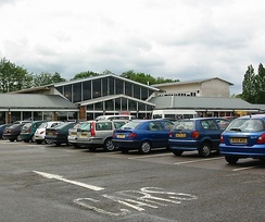 Watford Gap services, Britain's first motorway service station, seen here in May 2006, which opened in November 1959