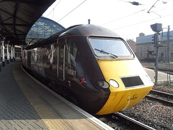 HST power car 43301 at Newcastle