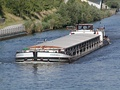 Self-propelled barge Andromeda in canal at Hanover, Germany
