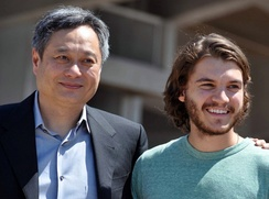 Director Ang Lee and actor Emile Hirsch promoting the film at the 2009 Cannes Film Festival.