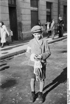 Jewish boy in Radom with a Star of David armband