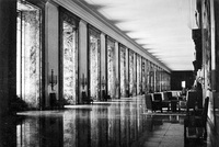 The New Reich Chancellery's grand marble gallery in 1939.
