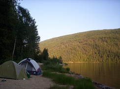 Camping is available at Barriere Lake
