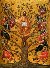 Christ the True Vine, 16th century Greek icon