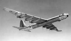 Convair B-36 Peacemaker, which used both piston and jet engines in later versions