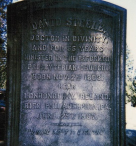 Grave of David Steele, Sr. Huntingdon, Pennsylvania