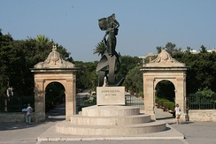 Monument to the independence of Malta in Floriana