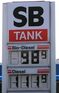 In some countries biodiesel is less expensive than conventional diesel