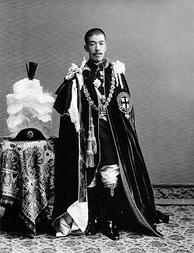 Emperor Taishō in the robes of the Order of the Garter, as a consequence of the Anglo-Japanese Alliance