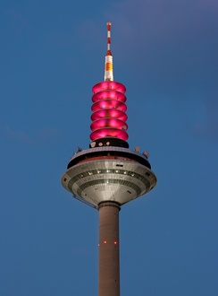 Top of the Europaturm, a 337 m communications tower