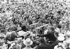 President Kennedy in Fort Worth on Friday morning, November 22, 1963. He was assassinated in Dallas later in the day.