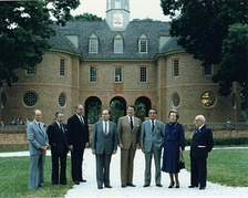 Thorn (second from the left) at the 1983 G7 summit