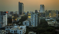 View of Gulshan area at dusk