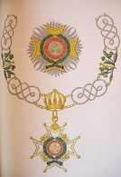 The insignia of a Knight Grand Cross of the military division of the order