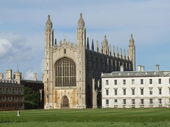 The iconic King's College Chapel of the University of Cambridge (centre), built between 1441 and 1515